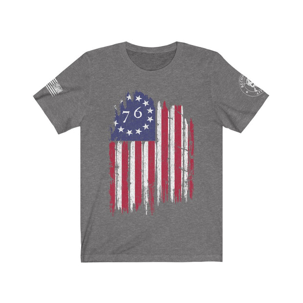 Men's T Shirt - The Betsy Ross 76 Flag (Design on Front)