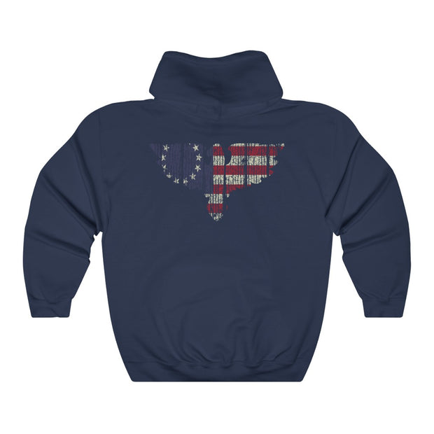 Hooded Sweatshirt - Betsy Ross Eagle Flag