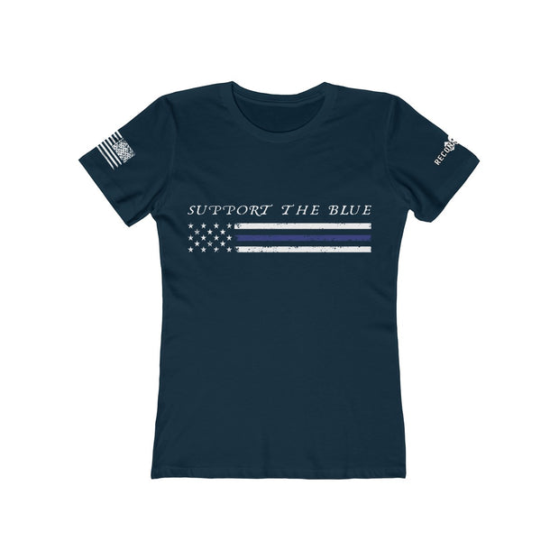 Women's Boyfriend Tee - Support The Blue