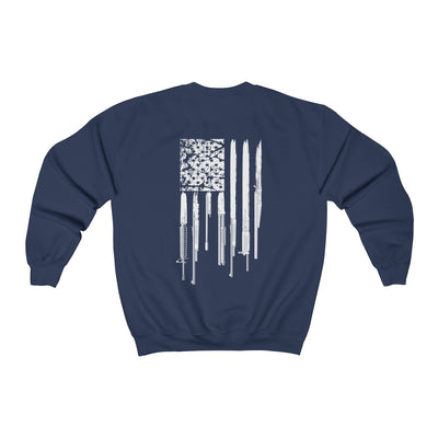 Women's Crewneck Sweatshirt - Rifle Flag