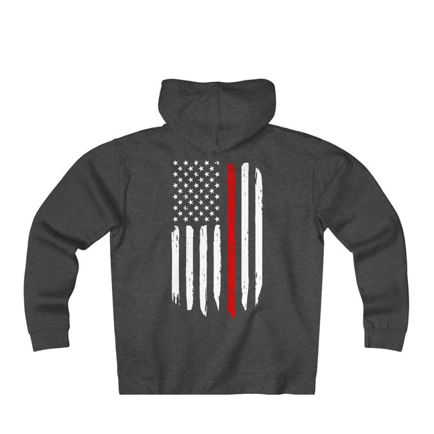 Men's Heavyweight Fleece Zip Hoodie - Thin Red Line