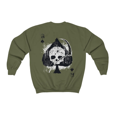 Men's Crewneck Sweatshirt - Ace of Spades Death Card