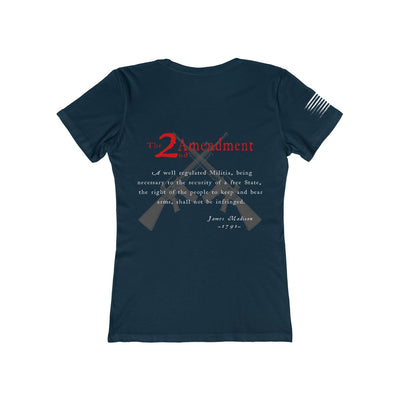 Women's Boyfriend Tee - 2nd Amendment