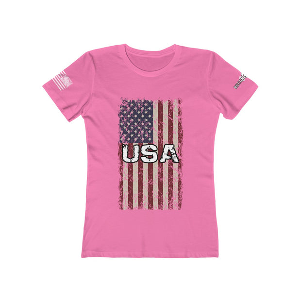 Women's - The Boyfriend Tee - USA Flag