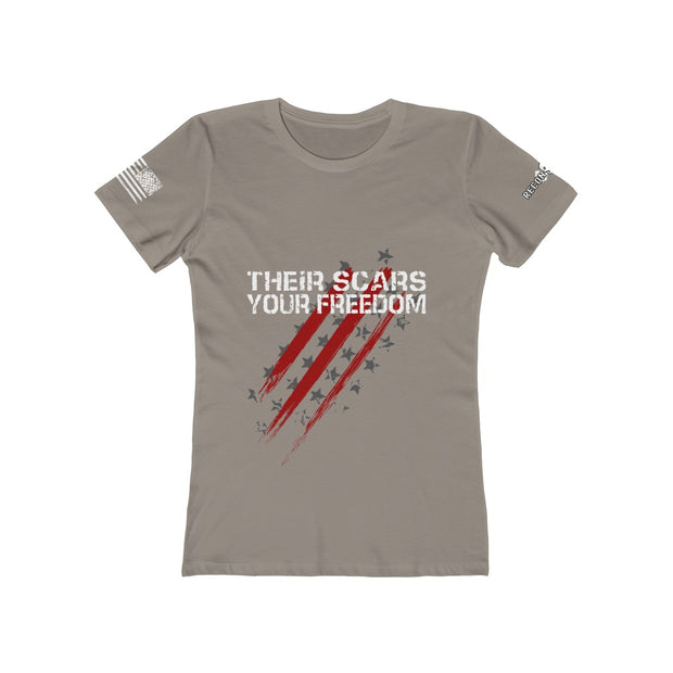 Women's Boyfriend Tee - Their Scars Your Freedom