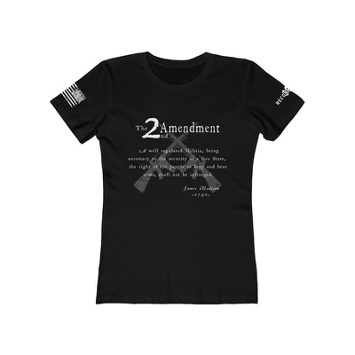 Women's Boyfriend Tee - 2nd Amendment - Black and White