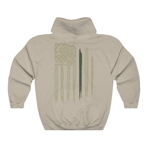 Women's Hooded Sweatshirt - Thin Green Line Flag