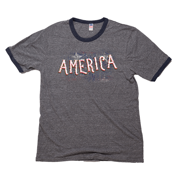 Men's Ringer T-Shirt - America (Made IN USA)