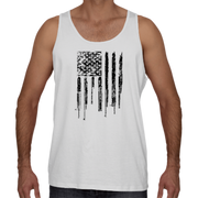 Men's Tank Top - Black Rifle Flag (Made in USA)