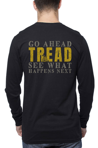 Men's Long Sleeve Tee - Go Ahead Tread (Made in the USA)