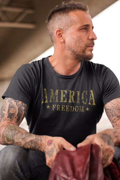 Men's T-Shirt - America Freedom (Made In The USA)