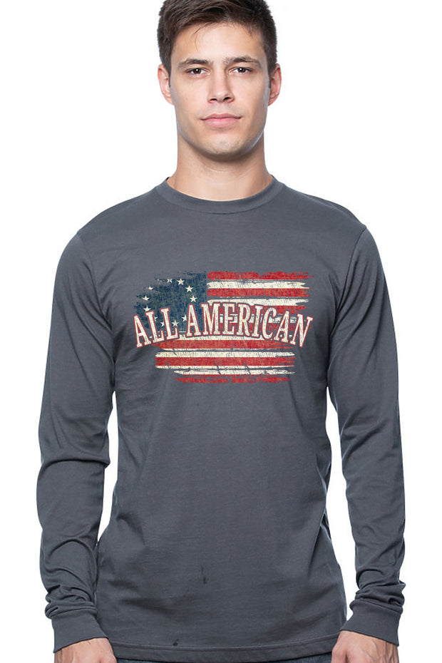 Men's Long Sleeve Tee - All American (Made in the USA)