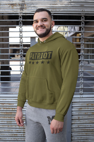 Men's ORGANIC COTTON PULLOVER HOODIE - Patriot (Made in the USA)