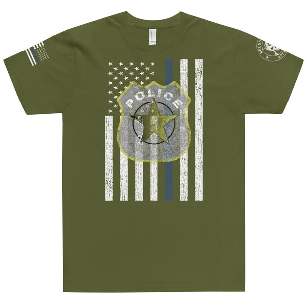 Thin Blue Line Police Badge T-Shirt