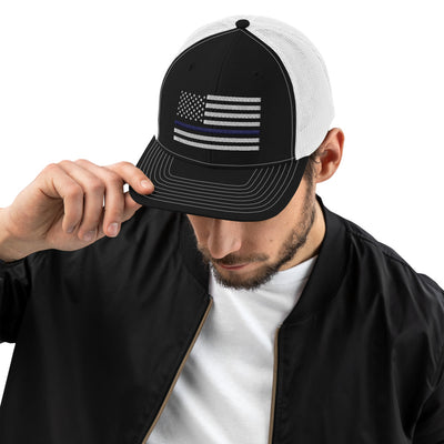 Thin Blue Line Trucker Cap - Richardson 112