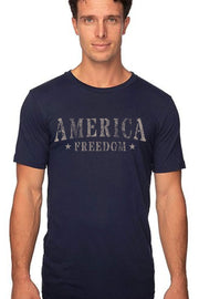 Men's T-Shirt - America Freedom (Made in the USA) - Sand Design