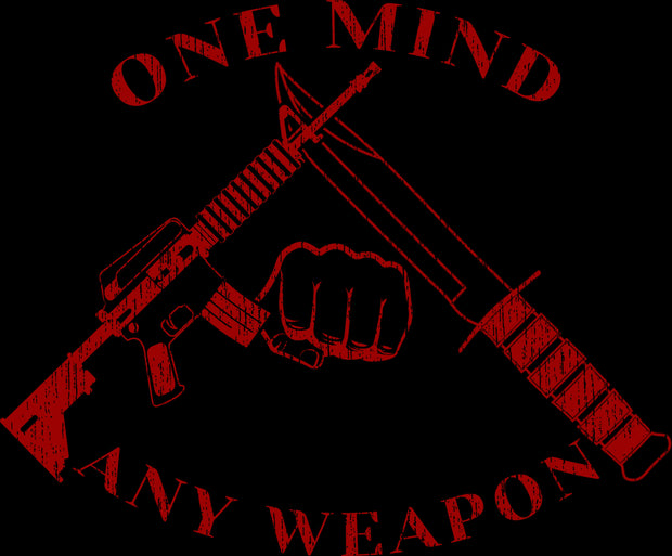 Men's T-Shirt - One Mind Any Weapon - Left Chest Design (Made in the USA)