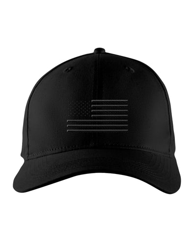 Richardson Snapback Trucker Cap - Custom Embroidered Black Flag