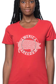 Women's T-Shirt - THE RIGHT OF THE PEOPLE TO EAT BACON, SHALL NOT BE INFRINGED (Made in the USA)