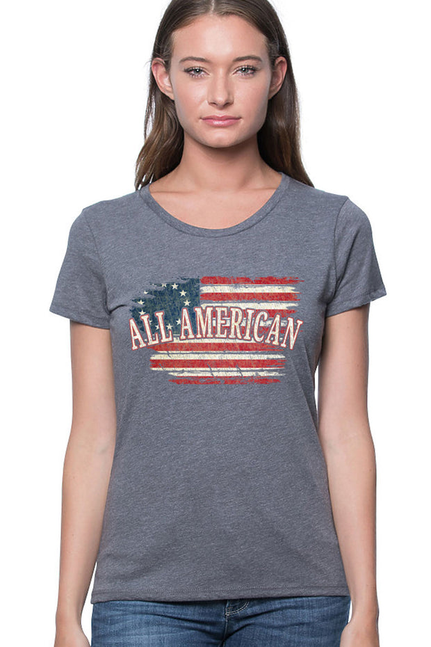 WOMEN'S ORGANIC RPET SHORT SLEEVE TEE - All American (Made in the USA)