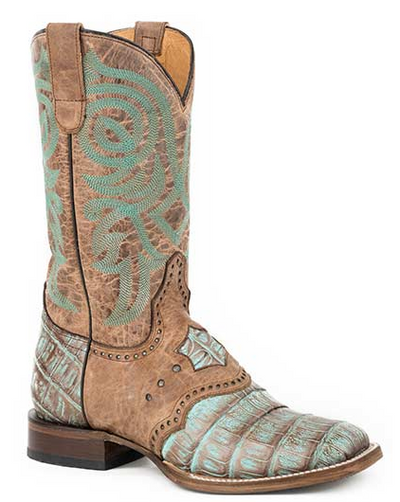 Roper Women's Deadwood Caiman Exotic Boots Handcrafted