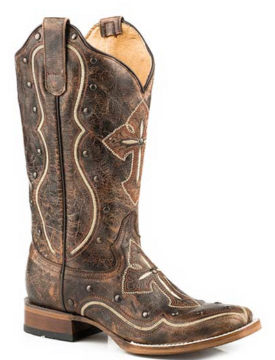 Roper Womens Western Boots Pure  Square Brown