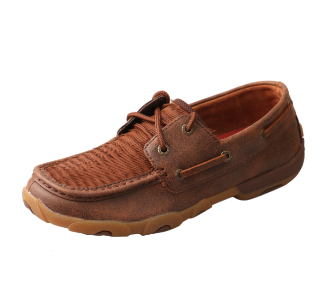 Women's Boat Shoe Driving Moc - Hairy Brown