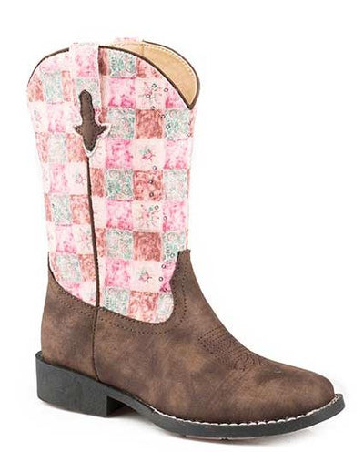 "Roper Kid's ""Floral Shine"" Western Boot"