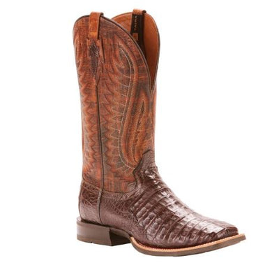 "Ariat Men's ""Antique Pecan"" Caiman Western Boot"