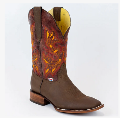 "Rockin Leather Men's Round Toe ""Crazy Flotter"" Western Boot"