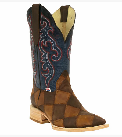 "Rockin Leather Men's ""Patchwork Leather"" Western Boot"