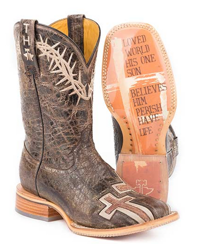 Tin Haul Woman's   My Savior, Bible Verse Sole Boot