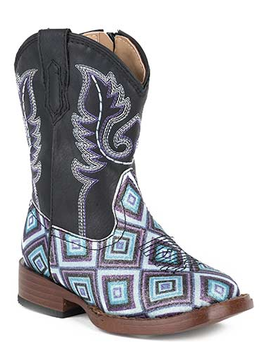 "Roper Toddler's ""Glitter Diamonds"" Western Boot"