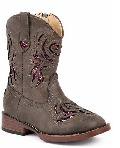 "Roper Toddler's ""Glitter Breeze"" Western Boot"