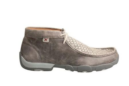 Twisted X Men's Woven Grey Driving Moc Shoe