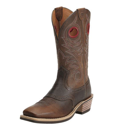 Ariat Men's Heritage Roughstock Wide Square Toe Western Boot-SOME SIZES BACKORDERED TIL APRIL, PLEASE CALL BEFORE ORDERING