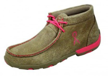 Twisted X Women's Driving Moccasin Bomber and Neon Pink