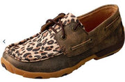 Twisted X Women's Driving Moccasins – Distressed/Leopard