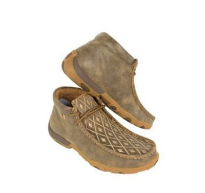 Twisted X Women's Tan Diamond Driving Mocs