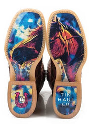 Tin Haul Women's A Cute Angle/ Colorful Horse Sole