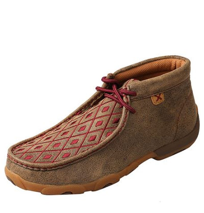 Twisted X Women's Driving Mocs D Toe - Bomber/ Mahogany