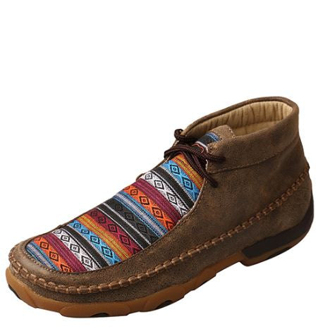 Twisted X Women's Driving Mocs D Toe - Bomber / Multi Pattern