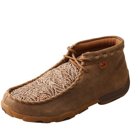 Twisted X Women's Driving Mocs D Toe- Bomber / Nude Print