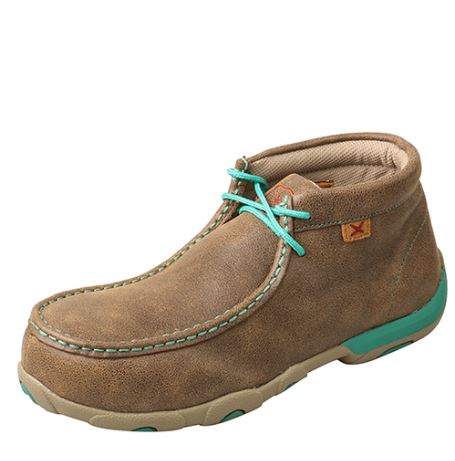 Twisted X Women's Driving Mocs Alloy Toe - Bomber / Turquiose