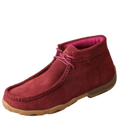 Twisted X Women's Driving Mocs D Toe - Wine