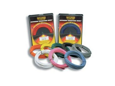 Painless 70853 18 Gauge Red TXL Wire w/White Stripe (50ft)