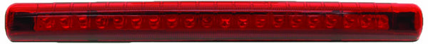 Pacer Performance 20-708 Red Mini 20-Diode Single Row LED Brake Light with Red Lens