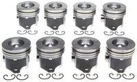 6.0 6.0L Diesel .040 Over Pistons set 8 Ford Powerstroke 03-10 MAHLE Clevite Coated with Rings