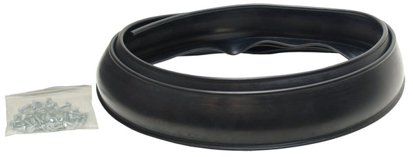 "Pacer Performance 52-170 Flexy Flares Black 2-1/2"" x 58"" Heavy Duty No-Lip Rubber Fender Extension Kit - 2 Piece"