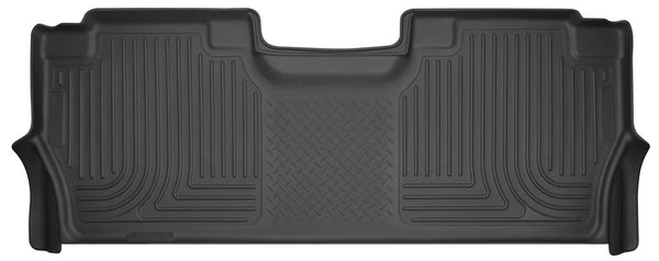Husky Liners 14401 Floor Liners - Second Seat Fits 17-19 F-250/F-350/F-450 Crew Cab w/factory carpet